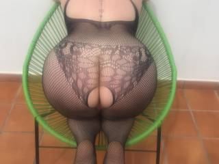 Mabel's on all fours waiting for Merv to put the camera down and slide his cock into her hungry pussy