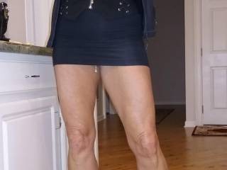 Titties,  legs, short skirt and her hanging pussy lip chain on display, I love it when we go out and she has pussy lip ring and chain on. The one thing you know is that she has no panties on
