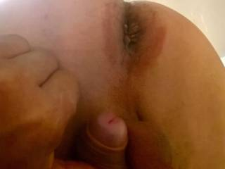 Insert a dildo and suck my cock..