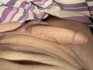 Nice to open my eyes in the morning and find my cock like this