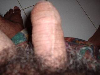 hairy uncuted cock