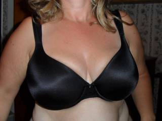 very nice, would love to cum on it, hope to see more bra pics from her