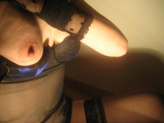 So very erotic...would really love to suck that gorgeous nipple / breast...and keep you in that outfit~~hot~~