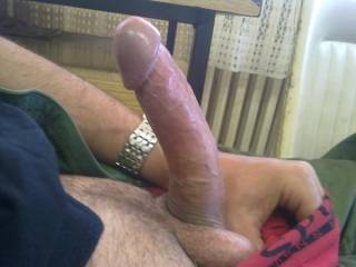 It would be great fun to slide your rock hard cock deep inside my pussy...