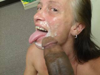 Feeding Cyndi the Office Slut My Huge Load of Hot Cum One Night at the Office