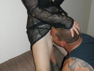 And enjoying every minute of it buddy!! What a great night that was!! Awesome dinner,and wifes soaking wet pussy all over my face for desert,,don't get no better than that man!!!
