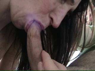 Wife makes me cum in her mouth and she doesn't spill a drop!