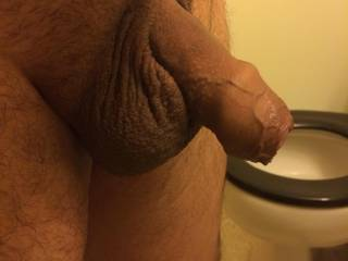 My uncut dick Just hanging.