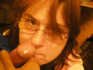 Ms. Manders is the best, if your ever in Montana, you have a couple of nice young cocks ready to please you.  Damn you take that cum so amazingly.