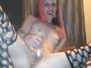 Great tits, sweet tight little pussy.....love to lick and suck it till she begs me to stop....then slide my cock inside her