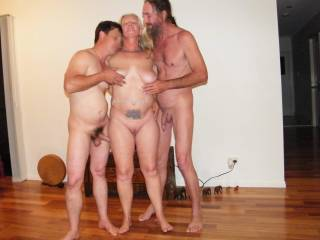 fun with both my guys any bi ladies like to join our little group??