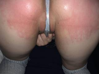 I love the color red on my ass! Who wants to spank me next?