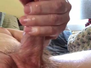 I use coco nut oil to masterbate my cock watching my wife's sexy ass.