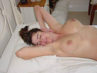 Ummmm, I love your 34dd tits, I want to fondle them with my mouth, hands and cock.  I would lock my lips on those sexy nipples and suck and suck and suck them for as long as you can take it. Can you have orgasms from someone sucking and playing with your hot sexy breasts?  G