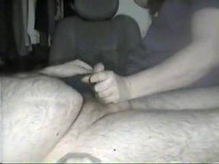 jerking and teasing my bfs cock until he cums a HUGE  load.....as I milk.the cum keeps coming out like some thick cream....did I do a good job?