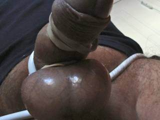 more shiny balls, tied cock for the Connaisseur