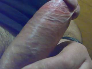 Gorgeous close up!!! So hard and desirable... looks trimmed and smooth, perfect for sliding in my wet pussy...