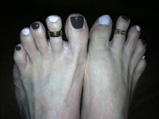 For my foot fetish friends...what color would you like next? I'll do it for YOU...Lily :)