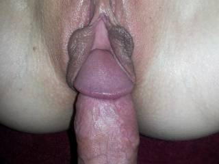 I want to push my pussy lips on to your dick and feel my cunt stretching open as you slide slowly all the way in...