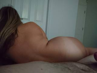 Sexy curvy gf about to get fucked in the ass