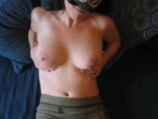 And what gorgeous breasts and a body you have babe. If I had them I would be touching and playing all day, u r a hottie!!