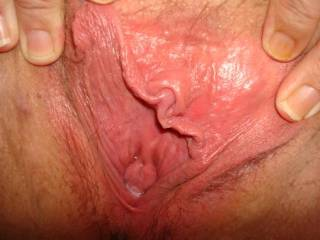 Wifes gaping pussy