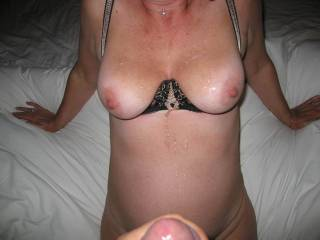 I will just have to video me jerking off to your pics for you guys. Wish I was there to lick her hot body clean.  I have video of me doing that too on many occasions both mine and her hubbies