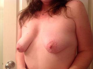 lovely boobies I would love to suck those pert pink nipples