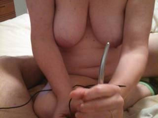 sounding my cock, jerking me off, and using a vibrating egg