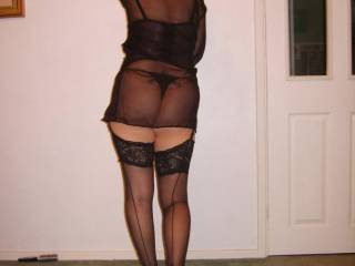 i love your gorgeous body and ass in thongs the stockings look so hot as well