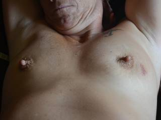 would love to rub my cock all over your hard nipples!!!