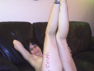 Look at those legs  Could lick you from your toes straight down to that nice warm wet pussy and then all the way up the front to your nipples and then your sweet lips :)