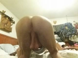 I want to bury my face in that hot ass and suck on those big low hanging balls