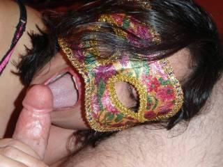 licking off the pre-cum..ooooo how I love the taste!