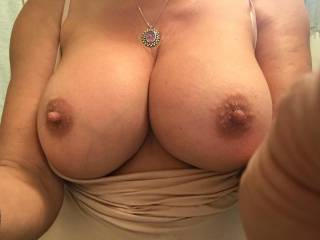 My wife sent this tit pic to several of her boyfriends this morning. I posted it for my Zoig friends. You're Welcome.