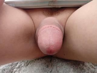 Public outdoor masturbating