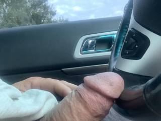 Taking a ride with cock out !!!