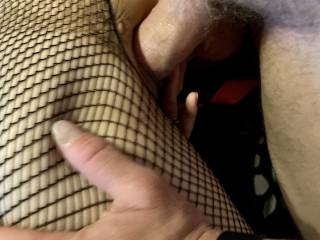 Hubby filling wife's pussy with his fat cock