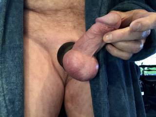 Love a wide tight cock ring.