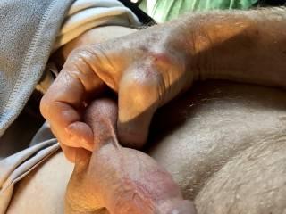 Love squeezing my balls.