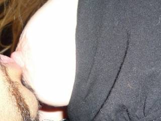 sucking on the wifes sexy tit
