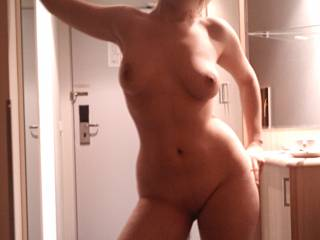 little bitty waist, gorgeous wide hips, thick thighs, and big tits? love it, built to take a cock