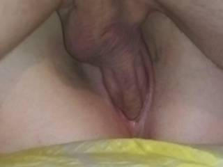 Your fuck buddy is stretching her wet pussy