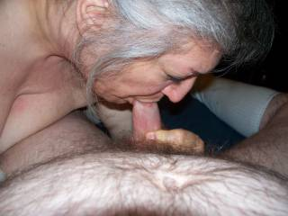 She must love sucking cock or she wouldn't be do good!