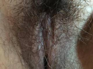 Love her hairy pussy.