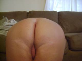 such a cute ass and gorgeous pussy , I would love to see more of it . just made for sliding my cock in that pussy ,