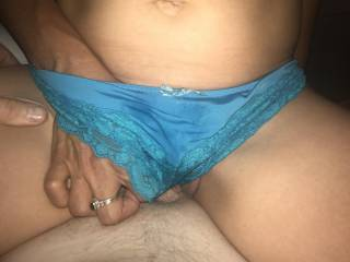 Me and the girlfriend having amazing panty sex