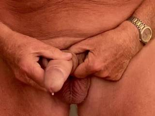 It is so good wanking my cock until cuming.  Do you love to watch?
