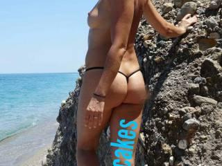 feeling sexy on the beach