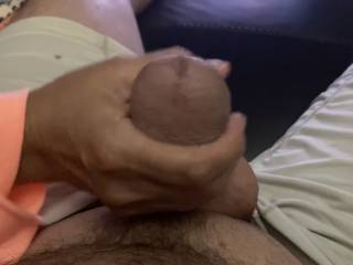 Showing me how fat my cock head is and telling me how it fills her tight pussy up the way she likes it!